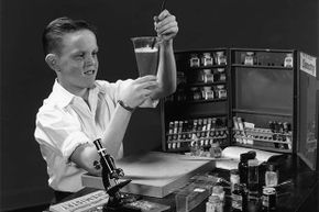In the 1950s, chemistry sets contained a lot more exciting -- and dangerous -- chemicals.
