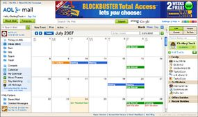 AOL Mail features include a calendar so users can manage their schedules.