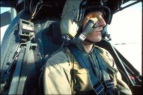 The helmet targeting system in an Apache helicopter