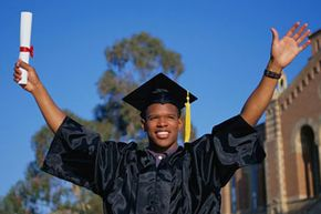 You have your bachelor's degree; now it's time to start looking at grad school. See more college pictures.