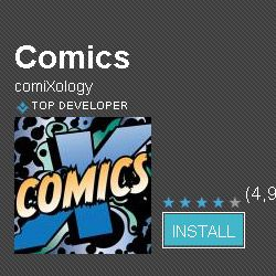 The Comics app for Android phones.