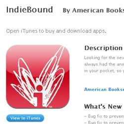 The Indiebound app for iPhones and iOS devices.