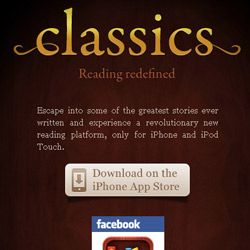 The Classics app for iPhones combines the portability of e-books with the physical experience of reading books.