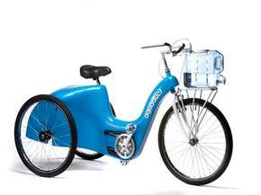 The Aquaduct takes the hauling power of a bicycle and adds a water filtration system to it.