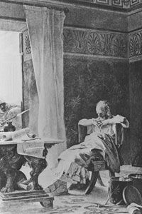 An illustration of Archimedes moments before his death. See more pictures of Ancient Greece.