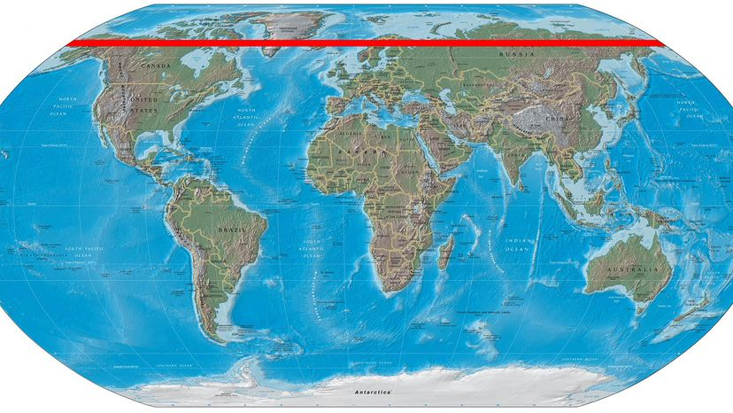 arctic circle map