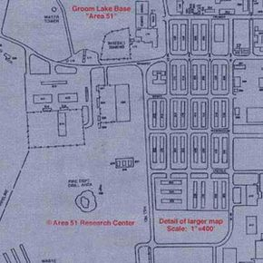 A map of the Area 51 facility