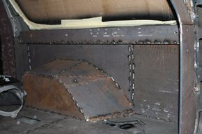 The armor, which in most cases is high-hardness ballistic steel, is applied like a jigsaw puzzle all over the car, including underneath.
