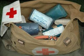 Army first aid kits have changed a lot since World War II.