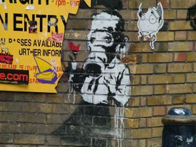 Banksy artwork was done on Brick Lane, London