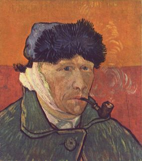 """""""Self-portrait with Bandaged Ear and Pipe"""", Van Gogh"""
