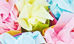 Put the arts and crafts pieces into pretty party bags as party favors.