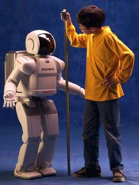 ASIMO is just 4 feet 3 inches tall