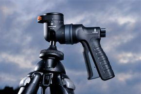 The pistol grip is so popular that even non-gun products have appropriated it, like this camera accessory, the Vanguard GH-100 pistol-grip ball head.