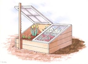 A cold frame can protect tender plants in cool weather, extending your gardening season.
