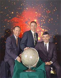 Astronaut Image Gallery The crew of Apollo 13. From left to right are Commander James A. Lovell Jr., command module pilot John L. Swigert Jr. and lunar module pilot Fred W. Haise Jr. See more astronaut pictures.