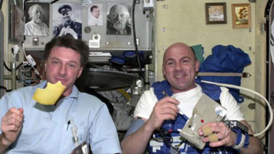 How do astronauts eat in space?