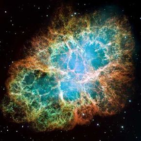 The supernova explosion of this star was witnessed in 1054. The Hubble Space Telescope captured an image of the remnants of the star -- now called the Crab Nebula -- in 2005.