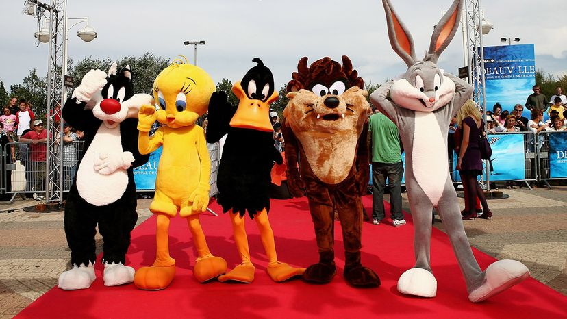 Bugs Bunny, Sylvester the cat, Tweety Bird, Daffy Duck, Tasmanian Devil