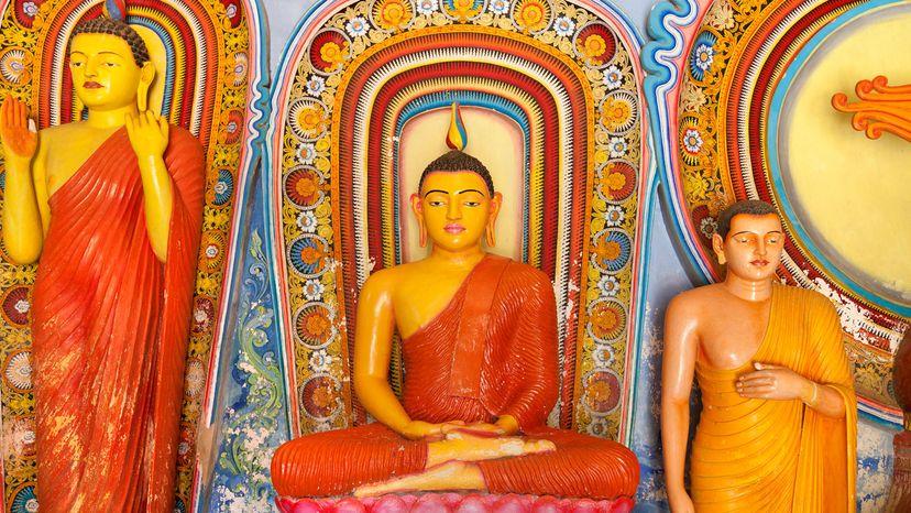 triptych of Buddha