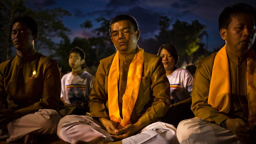 Buddhist meditators