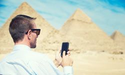 Achievement unlocked: Travel apps let you see the world without breaking the bank. See more pictures of pyramids.