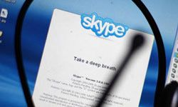 Install Skype on your mobile device for constant contact while you're away from home.