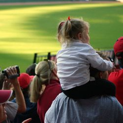 Even if they're too young to understand the intricacies of football, kids will love the air of excitement at a homecoming game. (But bring a kit with a few backup activities just in case.)