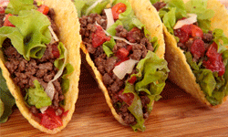 Tacos will seem perfectly in place amid a fiesta-themed birthday party.