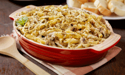Casseroles feed many, clean up quickly and can be made with almost anything. See more comfort foods pictures.