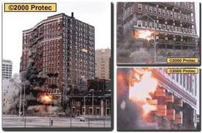The Wolverine Hotel in Detroit, Mich., was blasted in early 1997 by Engineered Demolition, Inc.