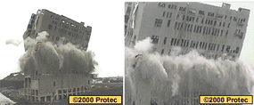 The Reading Grain Facility in Philadelphia, Pa., was blasted by Controlled Demolition Group, Ltd. in the winter of 1999.