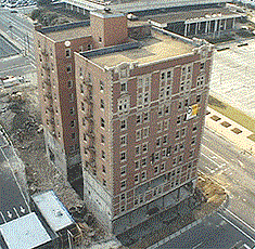 The Frank Leux Building in Birmingham, Ala., was demolished by Engineered Demolition, Inc. in the spring of 1997.