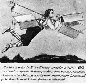 Somehow, Besnier the locksmith managed to fly short distances with his design.