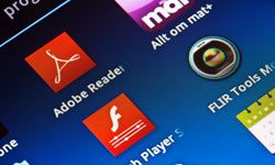 Adobe Flash Player is required to view Flash content, a proprietary technology used on many interactive Web sites, but don't expect to see its icon on your iPad or iPhone.