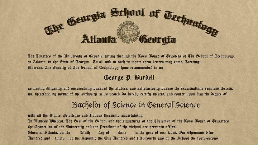 Burdell diploma