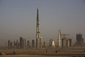 The Burj Dubai could reach 2,275 feet by the time it is complete. See more pictures of Dubai.