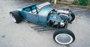 Dave Burk set out to build his '28 Ford Model A roadster in 1993. See more hot rod pictures.