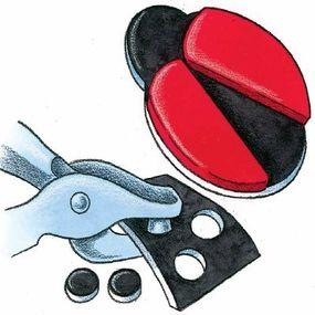 Use a hole punch to make ladybug spots.