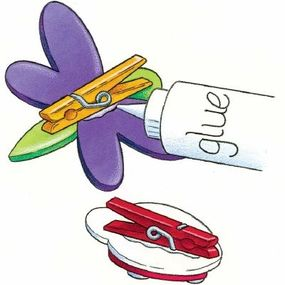 Glue a clothespin to the back of each bug.