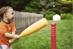 When you have very young kids playing, be sure to tell them when they're too close to the batter or ball