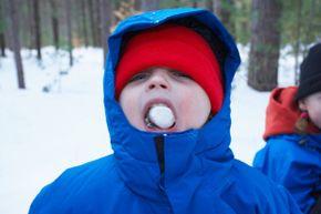 """Look, ma, frozen marshmallow!"""