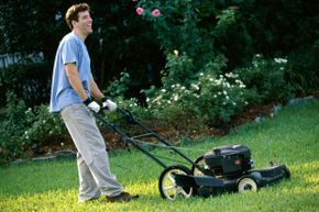 Even when it's hot out, resist the temptation to wear shorts when mowing the lawn.