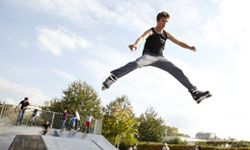 Location is everything -- even when it comes to backyard skate parks.
