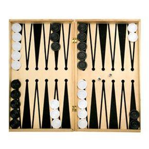 A basic backgammon setup awaits the players who make the game come to life.