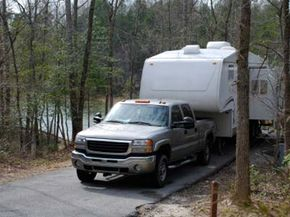 Towing a camper often requires the driver to back into camping spaces.