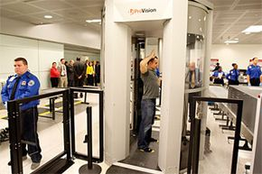Like backscatter X-ray machines, millimeter wave scanners produce detailed full-body images of passengers, but they do it with ultrahigh-frequency millimeter wave radiation rather than X-rays.