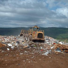 Trash that might not degrade for millennia piles high in Kaua'i County, Hawaii.