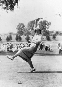 Babe Didrikson Zaharias won 31 professional tournaments from 1948-55. See more picture of famous golfers.