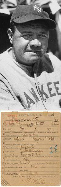 The man -- and his baseball registration card